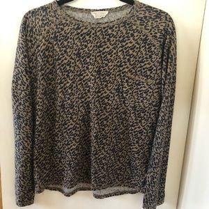 Zara Long Sleeve leopard print